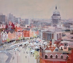 Market SQ View by Tom Butler -  sized 30x26 inches. Available from Whitewall Galleries